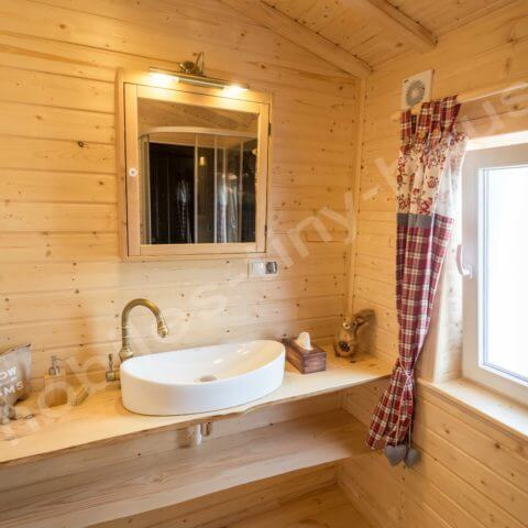 wooden house bathroom