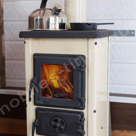 Tiny House France fireplace or oven possible