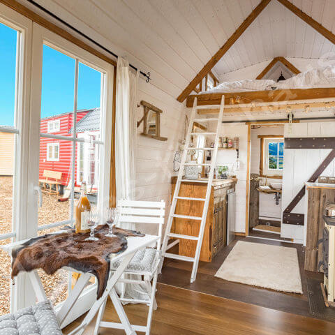view inside wooden house France