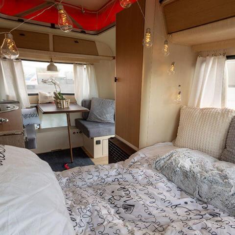 Caravan Eriba – sleeping area