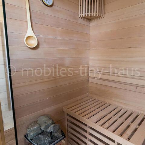 Holzhaus Saunabereich