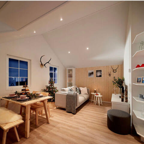 wooden house living area
