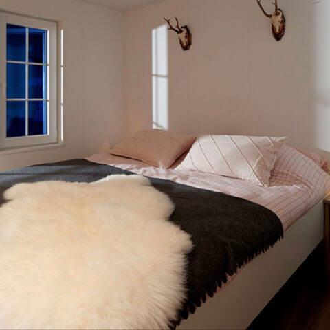 wooden house sleeping area