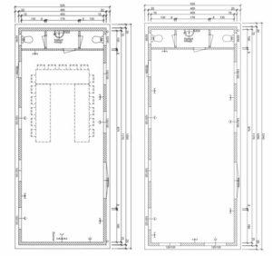 Mobiles Tiny Haus für Gewerbekunden - Beispiel Grundriss für ein Büro und einen Yogaraum