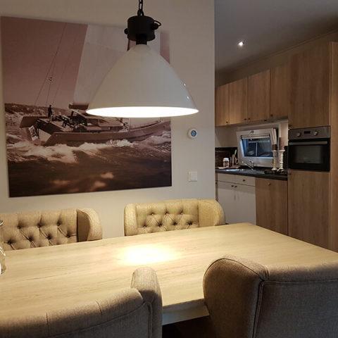 Mobiles Holzhaus Sitzbereich
