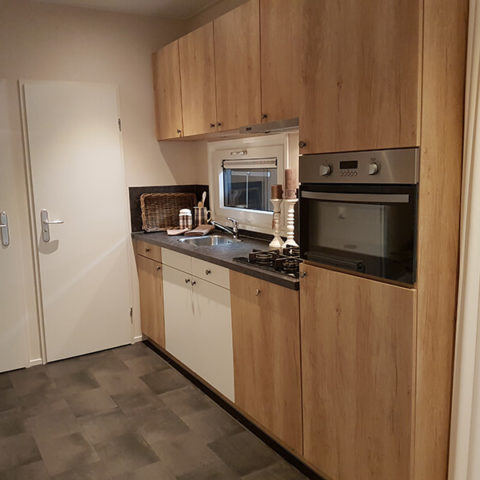 Mobiles Holzhaus Küche