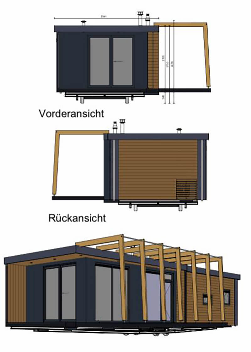 Mobiles Chalet Südtirol - Mobiles-Tiny-Haus