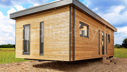 Beispiel für mobile Holzhäuser