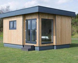 Singlehaus aus Holz von außen