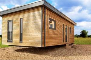 Wohncontainer aus Holz