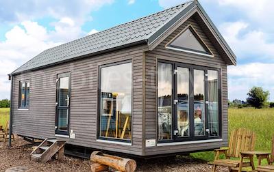 Wohnmobilheim aus Holz