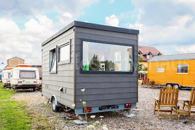 Holzwohnwagen