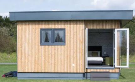 Cube Haus aus Holz
