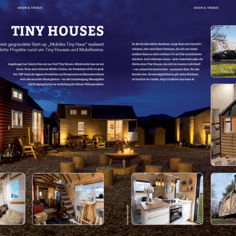 Mobiles Tiny House im Business Magazin ``starting up``