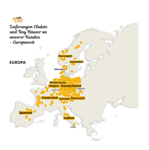 Karte Vital Camp GmbH - Auslieferungsgebiete